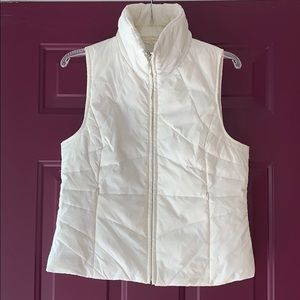 Kenneth Cole Reaction White Puffy Vest